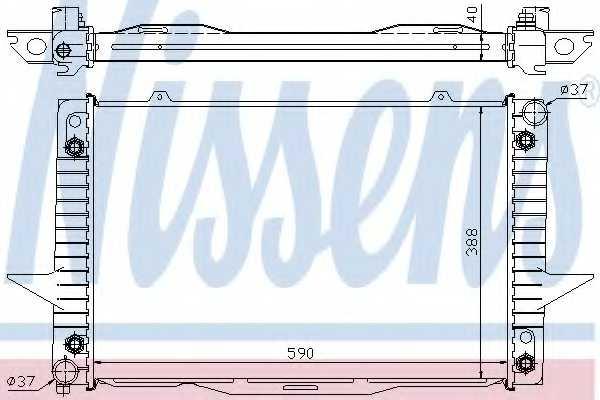 Радиатор охлаждения двигателя NISSENS 65539A - изображение