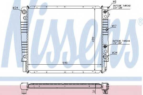 Радиатор охлаждения двигателя NISSENS 65542A - изображение