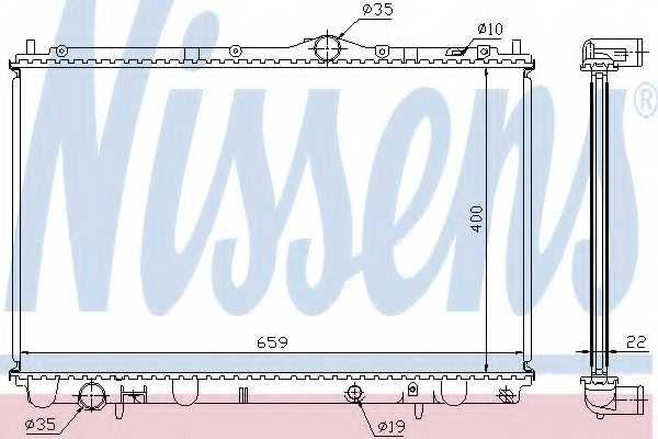 Радиатор охлаждения двигателя NISSENS 65543A - изображение