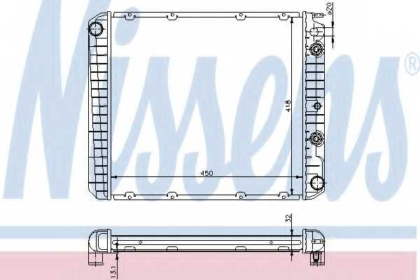 Радиатор охлаждения двигателя NISSENS 65544A - изображение