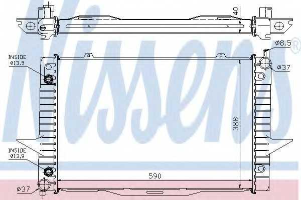 Радиатор охлаждения двигателя NISSENS 65548A - изображение