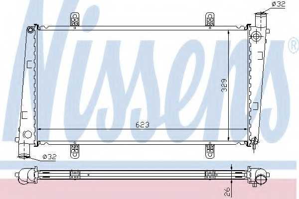 Радиатор охлаждения двигателя NISSENS 65551A - изображение