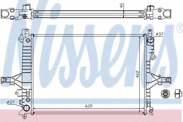 Радиатор охлаждения двигателя NISSENS 65553A - изображение