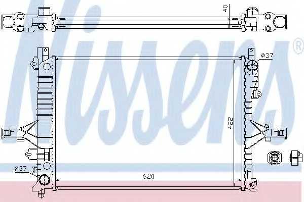 Радиатор охлаждения двигателя NISSENS 65557A - изображение