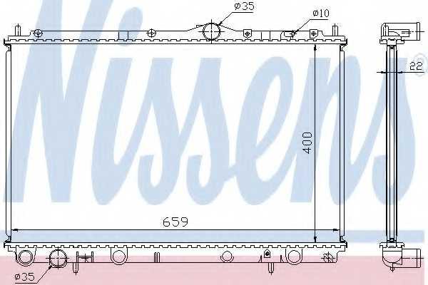 Радиатор охлаждения двигателя NISSENS 65559A - изображение