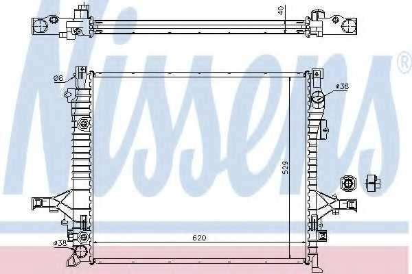 Радиатор охлаждения двигателя NISSENS 65613A - изображение
