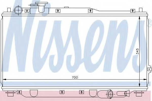 Радиатор охлаждения двигателя NISSENS 66604 - изображение