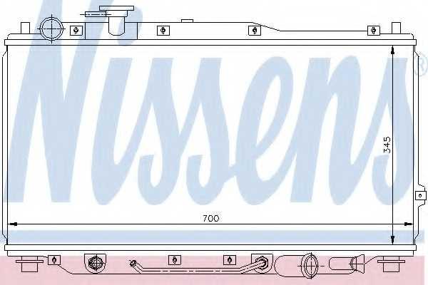 Радиатор охлаждения двигателя NISSENS 66605 - изображение