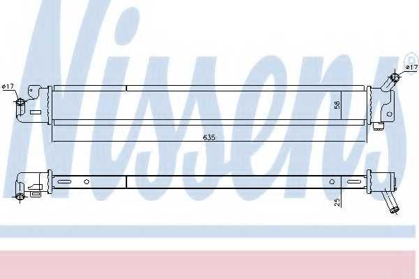 Радиатор, Тяговый аккамулятор NISSENS 666209 - изображение