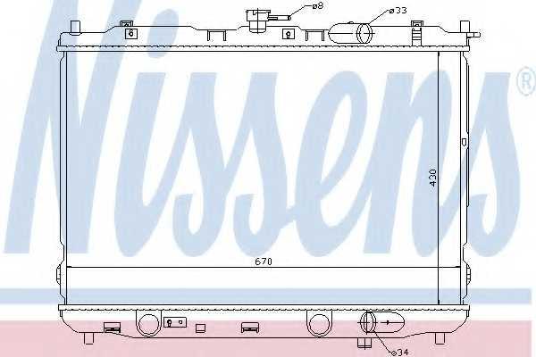 Радиатор охлаждения двигателя NISSENS 66639 - изображение