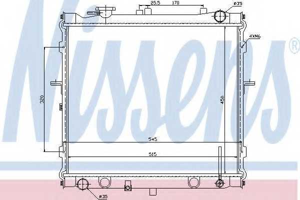 Радиатор охлаждения двигателя NISSENS 66642 - изображение