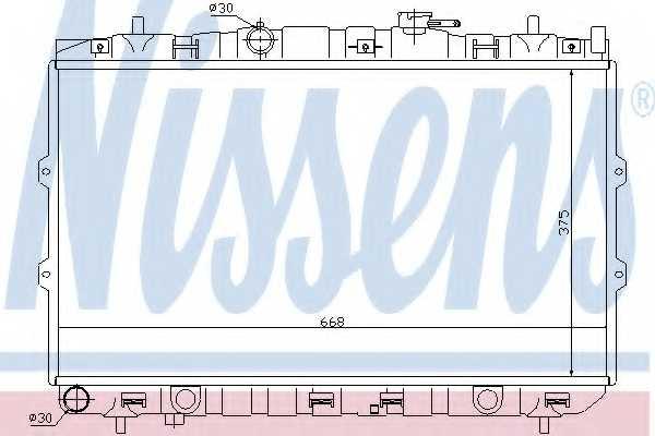 Радиатор охлаждения двигателя NISSENS 66648 - изображение
