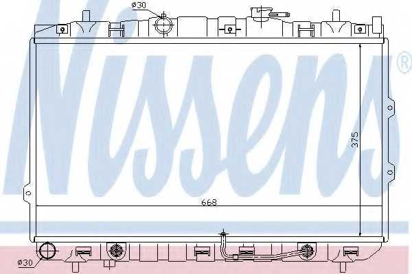 Радиатор охлаждения двигателя NISSENS 66649 - изображение