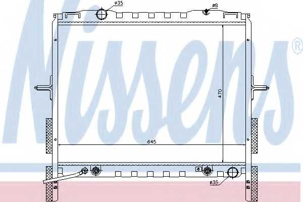Радиатор охлаждения двигателя NISSENS 66657 - изображение