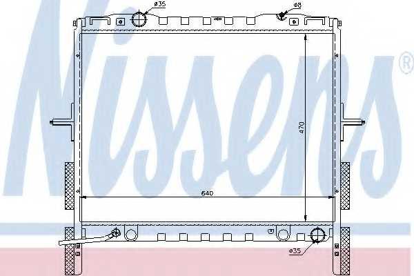 Радиатор охлаждения двигателя NISSENS 66658 - изображение