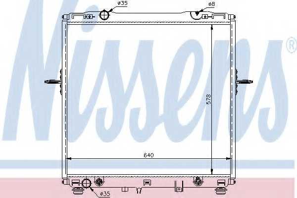 Радиатор охлаждения двигателя NISSENS 66659 - изображение