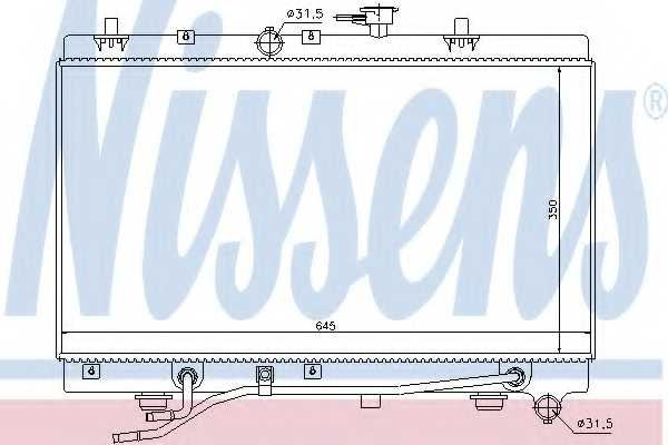 Радиатор охлаждения двигателя NISSENS 66663 - изображение
