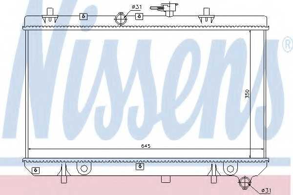 Радиатор охлаждения двигателя NISSENS 66665 - изображение