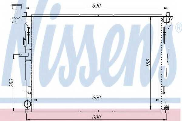 Радиатор охлаждения двигателя NISSENS 66674 - изображение