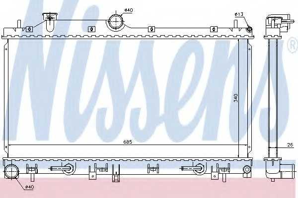 Радиатор охлаждения двигателя NISSENS 66676 - изображение