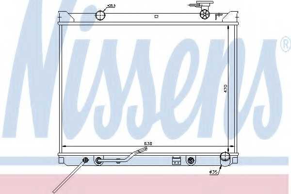Радиатор охлаждения двигателя NISSENS 66682 - изображение