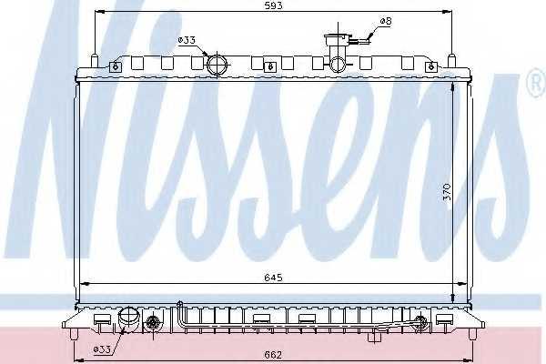 Радиатор охлаждения двигателя NISSENS 66687 - изображение