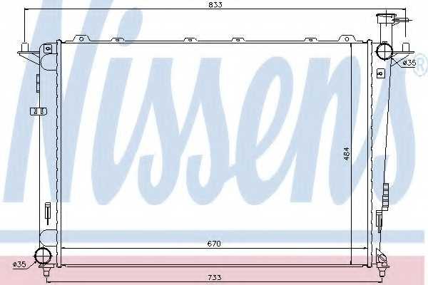 Радиатор охлаждения двигателя NISSENS 66693 - изображение