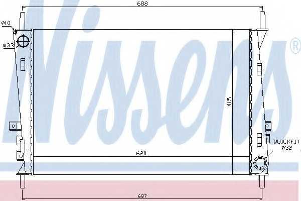 Радиатор охлаждения двигателя NISSENS 66704 - изображение