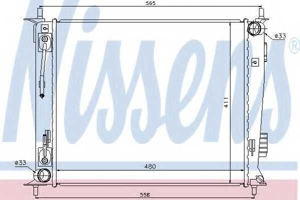 Радиатор охлаждения двигателя NISSENS 66730 - изображение