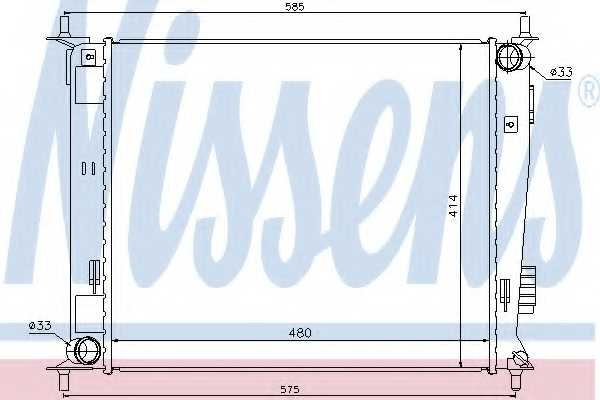 Радиатор охлаждения двигателя NISSENS 66742 - изображение