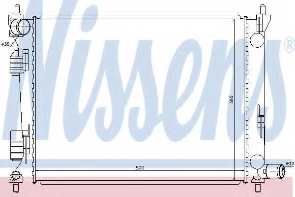 Радиатор охлаждения двигателя NISSENS 66756 - изображение