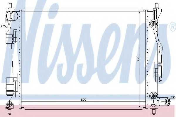 Радиатор охлаждения двигателя NISSENS 66757 - изображение