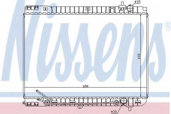 Радиатор охлаждения двигателя NISSENS 66759 - изображение