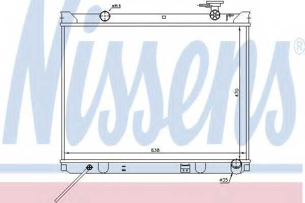 Радиатор охлаждения двигателя NISSENS 66766 - изображение