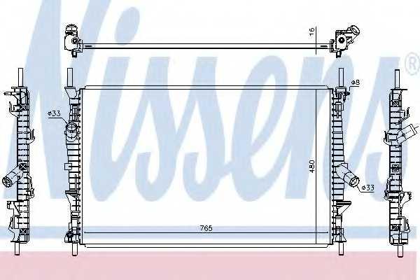 Радиатор охлаждения двигателя NISSENS 66861 - изображение