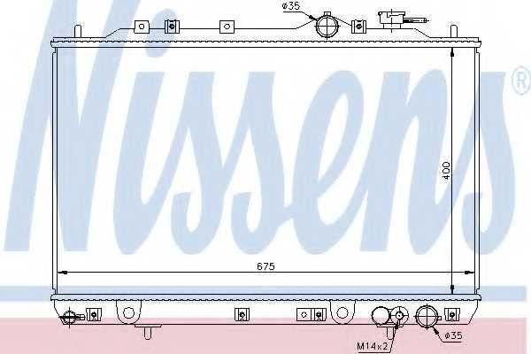 Радиатор охлаждения двигателя NISSENS 67006 - изображение