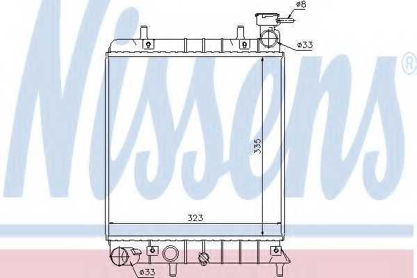 Радиатор охлаждения двигателя NISSENS 67022 - изображение