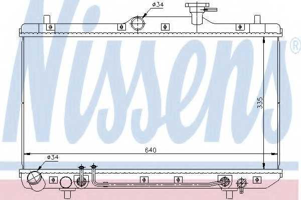 Радиатор охлаждения двигателя NISSENS 67023 - изображение