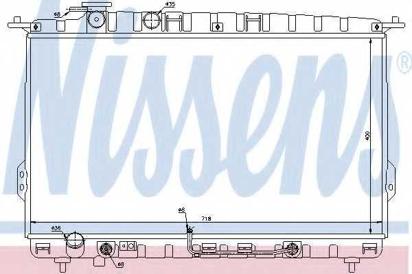 Радиатор охлаждения двигателя NISSENS 67027 - изображение