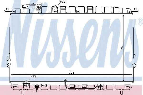 Радиатор охлаждения двигателя NISSENS 67028 - изображение