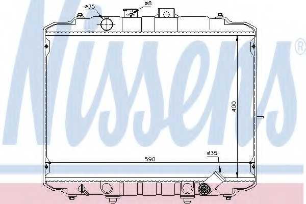 Радиатор охлаждения двигателя NISSENS 67034 - изображение