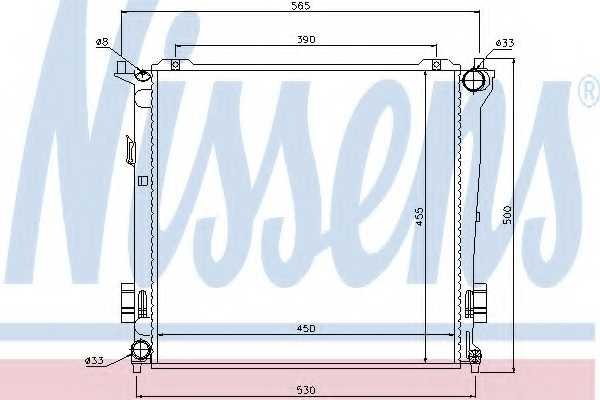 Радиатор охлаждения двигателя NISSENS 67077 - изображение