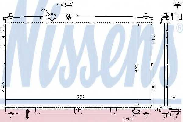 Радиатор охлаждения двигателя NISSENS 67095 - изображение