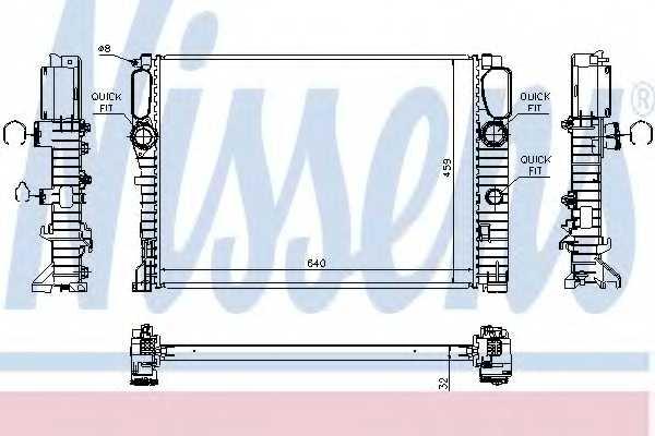 Радиатор охлаждения двигателя NISSENS 67102A - изображение