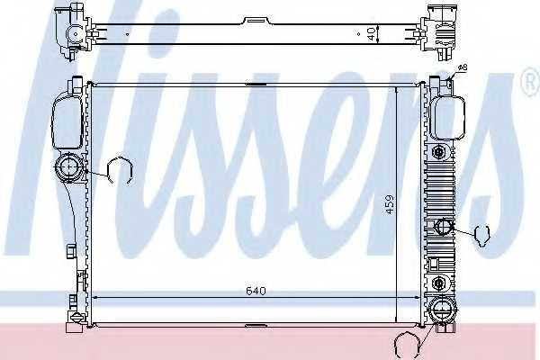 Радиатор охлаждения двигателя NISSENS 67107A - изображение