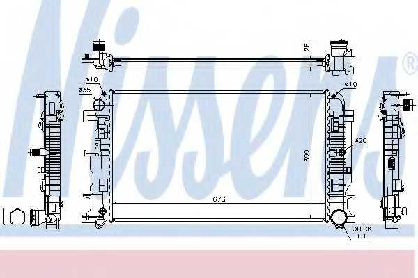 Радиатор охлаждения двигателя NISSENS 67156A - изображение