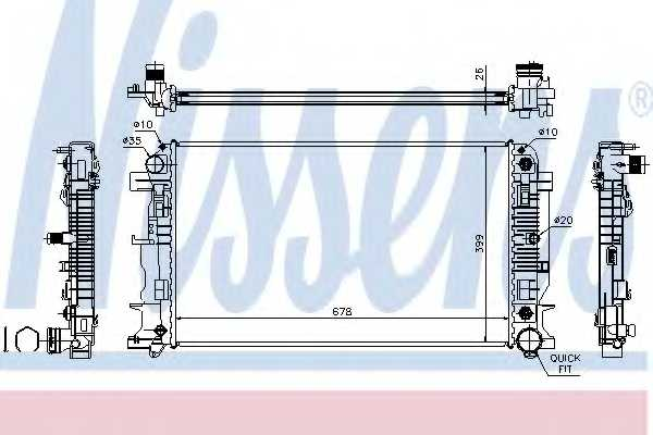 Радиатор охлаждения двигателя NISSENS 67157A - изображение