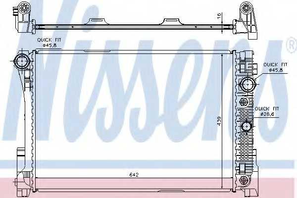 Радиатор охлаждения двигателя NISSENS 67161 - изображение