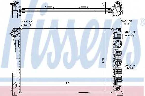 Радиатор охлаждения двигателя NISSENS 67162 - изображение