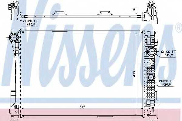 Радиатор охлаждения двигателя NISSENS 67164 - изображение
